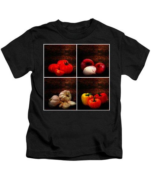 Kitchen Ingredients Collage Kids T-Shirt