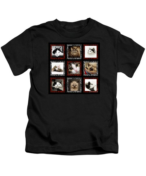 Kitty Cat Tic Tac Toe Kids T-Shirt