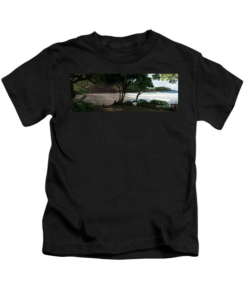 Koki Beach Hana Maui Hawaii Kids T-Shirt by Sharon Mau