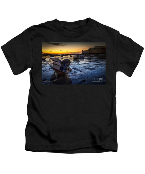 La Caleta Beach Cadiz Spain Kids T-Shirt