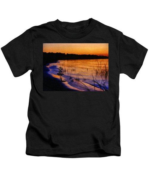 Lake Huron Sunset  Kids T-Shirt