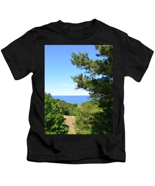 Lake Michigan From The Top Of The Dune Kids T-Shirt