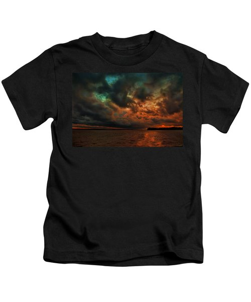 Lake Murray Fire Sky Kids T-Shirt