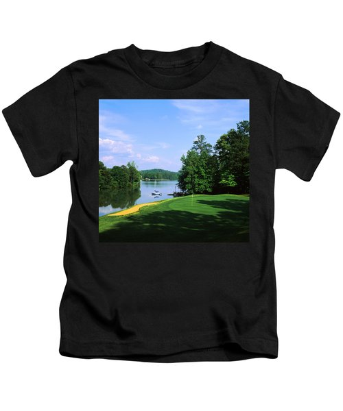 Lake On A Golf Course, Legend Course Kids T-Shirt