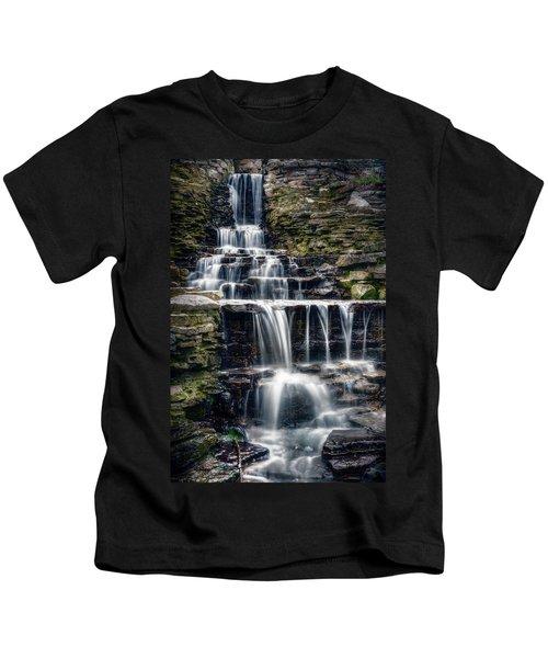 Lake Park Waterfall Kids T-Shirt