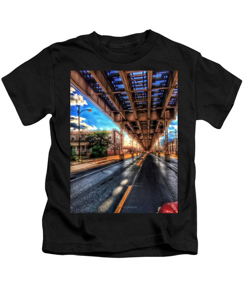 Lake Street El Tracks Kids T-Shirt