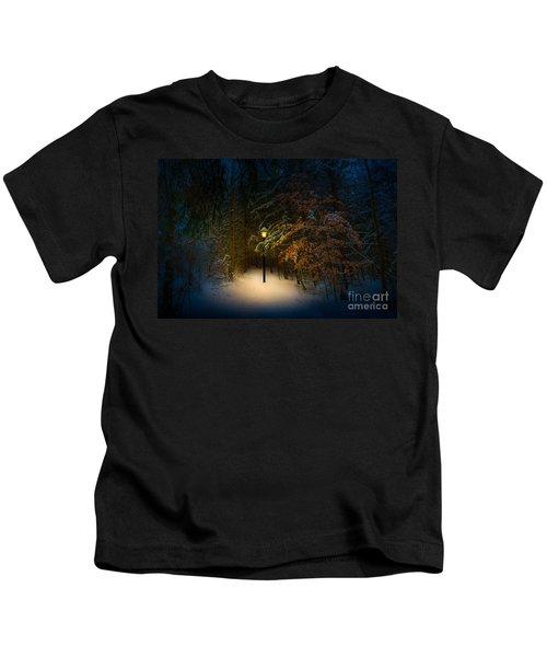 Lantern In The Wood Kids T-Shirt