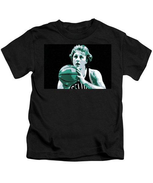 Larry Bird Poster Art Kids T-Shirt