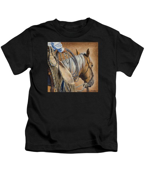 Lariat And Leather Kids T-Shirt