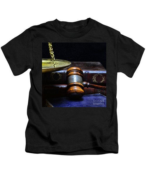 Lawyer - Books Of Justice Kids T-Shirt