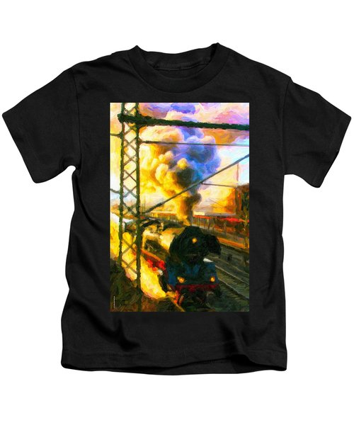 Leaving The Station Kids T-Shirt