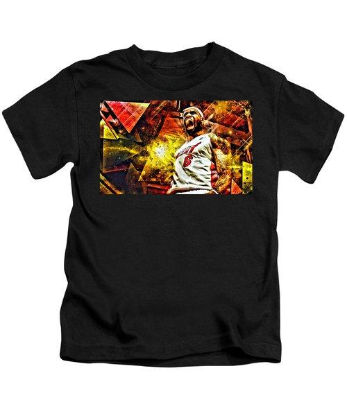 Lebron James Art Poster Kids T-Shirt