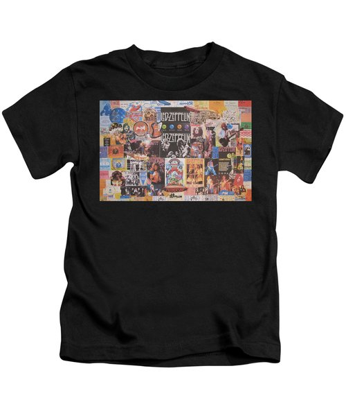 Led Zeppelin Years Collage Kids T-Shirt