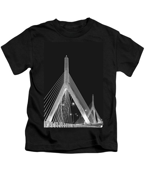 Leonard P. Zakim Bunker Hill Memorial Bridge Bw II Kids T-Shirt