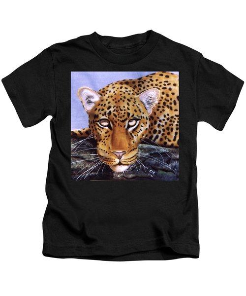 Leopard In A Tree Kids T-Shirt
