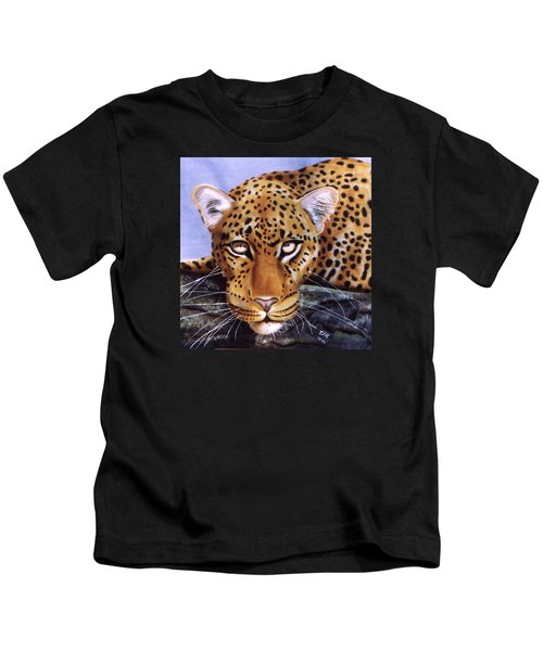 Leopard In A Tree Kids T-Shirt