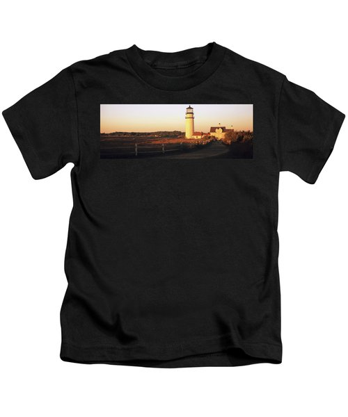 Lighthouse In The Field, Highland Kids T-Shirt