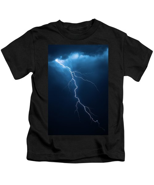 Lightning With Cloudscape Kids T-Shirt