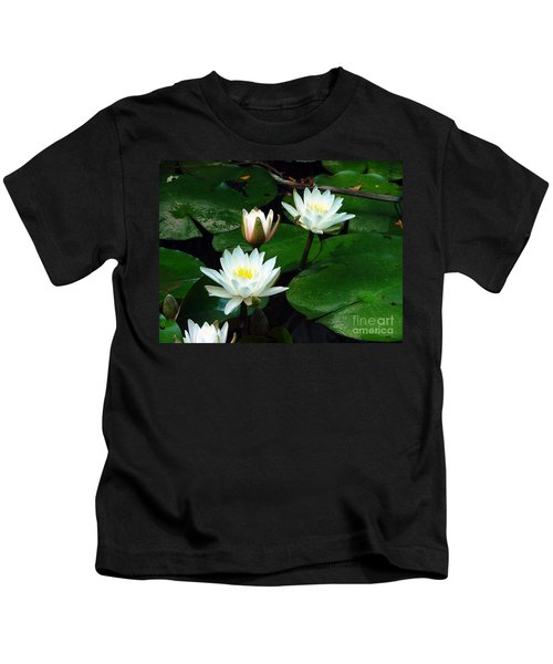 Lily Pad Flowers  Kids T-Shirt