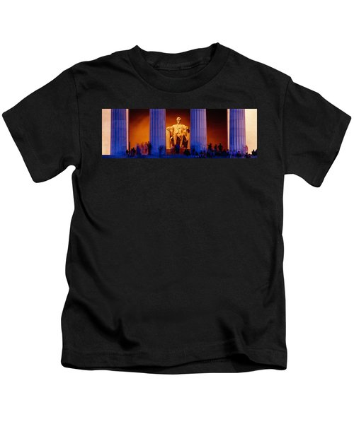 Lincoln Memorial, Washington Dc Kids T-Shirt by Panoramic Images