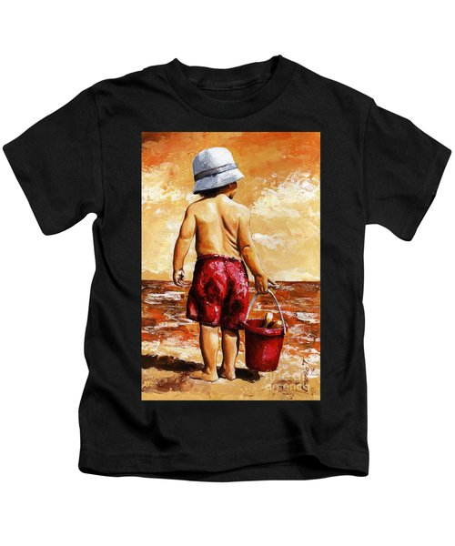 Little Boy On The Beach II Kids T-Shirt