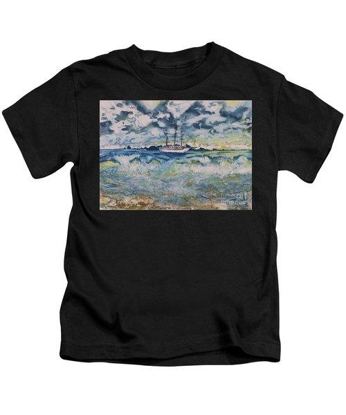 Lone Vessel  Kids T-Shirt