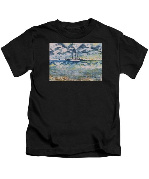 Lone Vessel  Kids T-Shirt