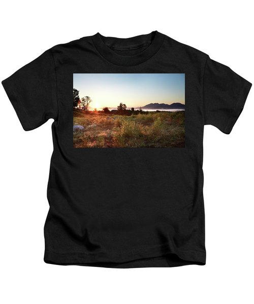 Looking Due East From Eustis Ridge Kids T-Shirt