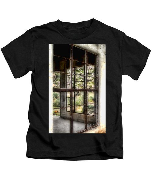 Looking Through The Window By Diana Sainz Kids T-Shirt