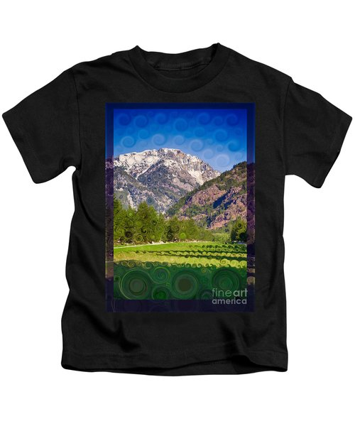 Lost River Airport Runway Abstract Landscape Painting Kids T-Shirt