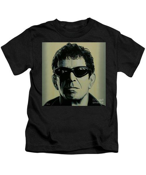 Lou Reed Painting Kids T-Shirt by Paul Meijering