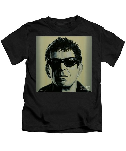 Lou Reed Painting Kids T-Shirt