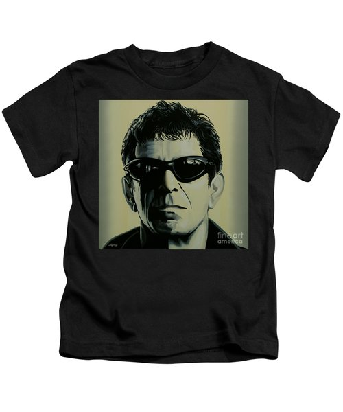 Lou Reed Painting Kids T-Shirt