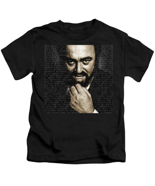 Luciano Pavarotti Kids T-Shirt