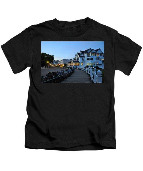 Mackinac Island At Dusk Kids T-Shirt