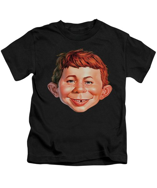 Mad - Alfred Head Kids T-Shirt by Brand A