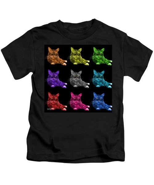 Maine Coon Cat - 3926 - Bb - M Kids T-Shirt