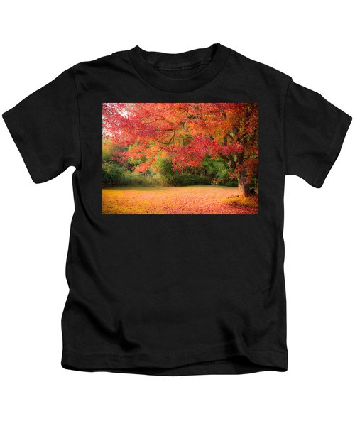 Maple In Red And Orange Kids T-Shirt