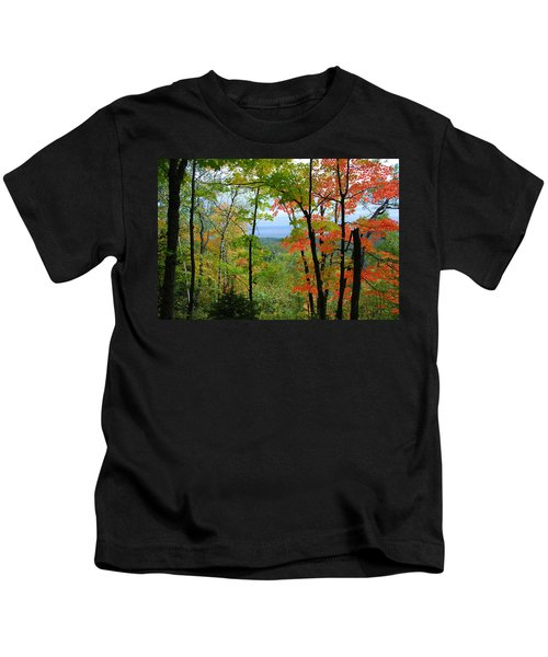 Maples Against Lake Superior - Tettegouche State Park Kids T-Shirt