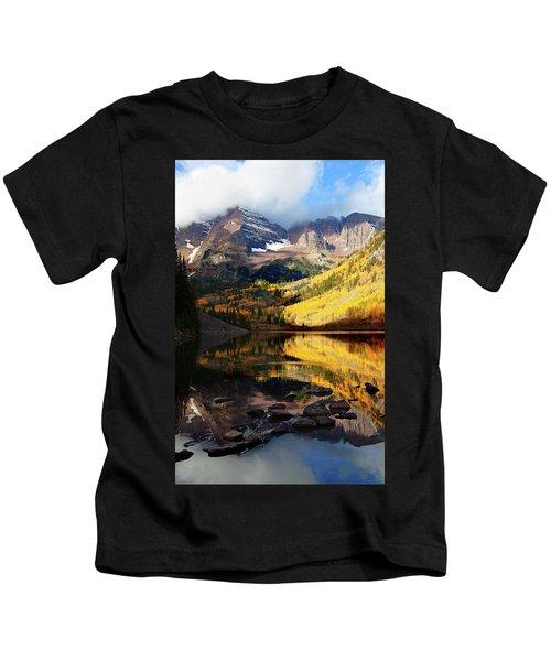 Maroon Bells Autumn Kids T-Shirt