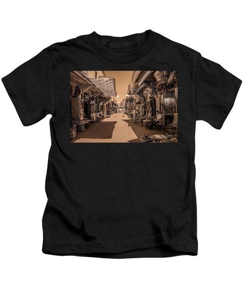 Marrackech Souk At Noon Kids T-Shirt