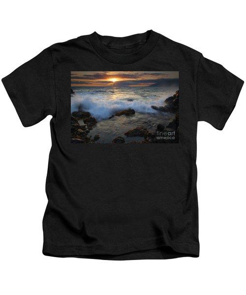 Maui Sunset Spray Kids T-Shirt