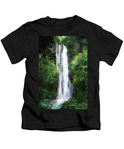 Maui Waterfall Kids T-Shirt