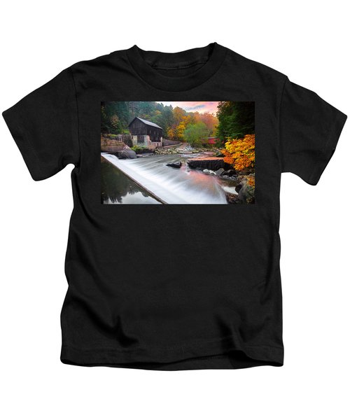 Mcconnell's Mill Fall  Kids T-Shirt