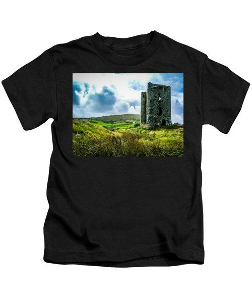 Medieval Dunmanus Castle On Ireland's Mizen Peninsula Kids T-Shirt