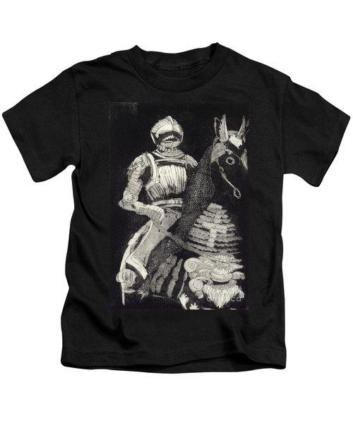 Medieval Knight On Horseback - Chevalier - Caballero - Cavaleiro - Fidalgo - Riddare -ridder -ritter Kids T-Shirt