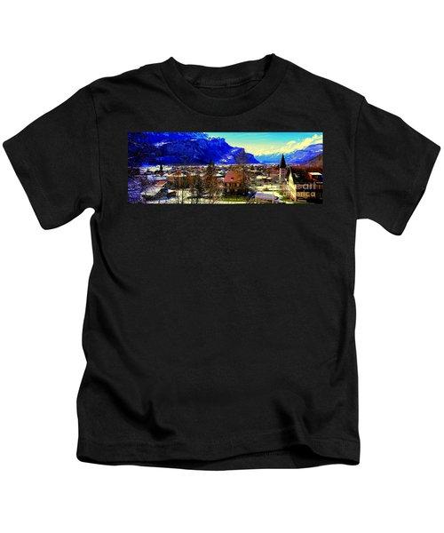 Meiringen Switzerland Alpine Village Kids T-Shirt