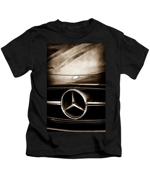 Kids T-Shirt featuring the photograph Mercedes-benz Grille Emblem by Jill Reger