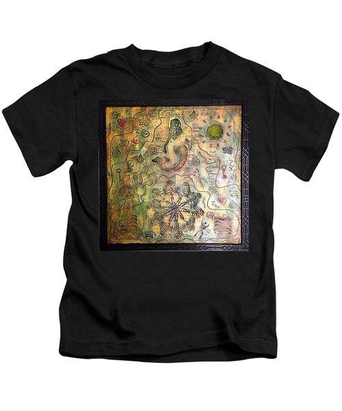 Mermaid Goddess By Alfredo Garcia Kids T-Shirt