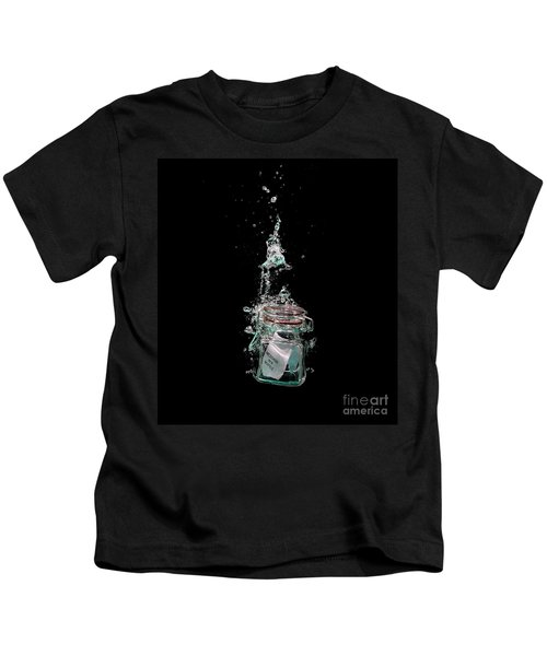 Message In Sinking Bottle Kids T-Shirt